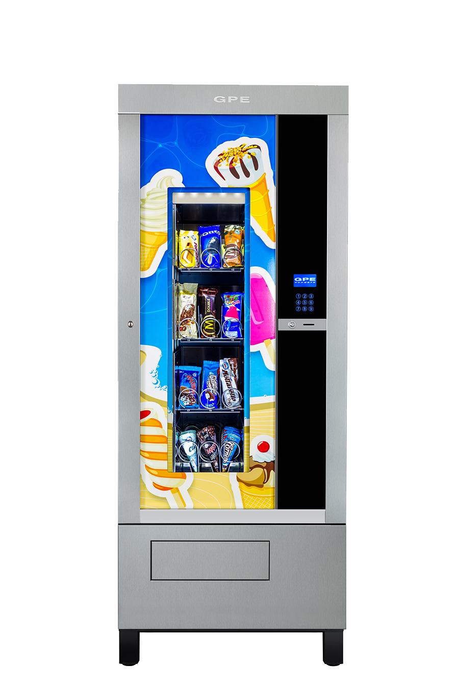 Mcmarket24: Distributore automatico per gelati, ice cream e snack freddi.