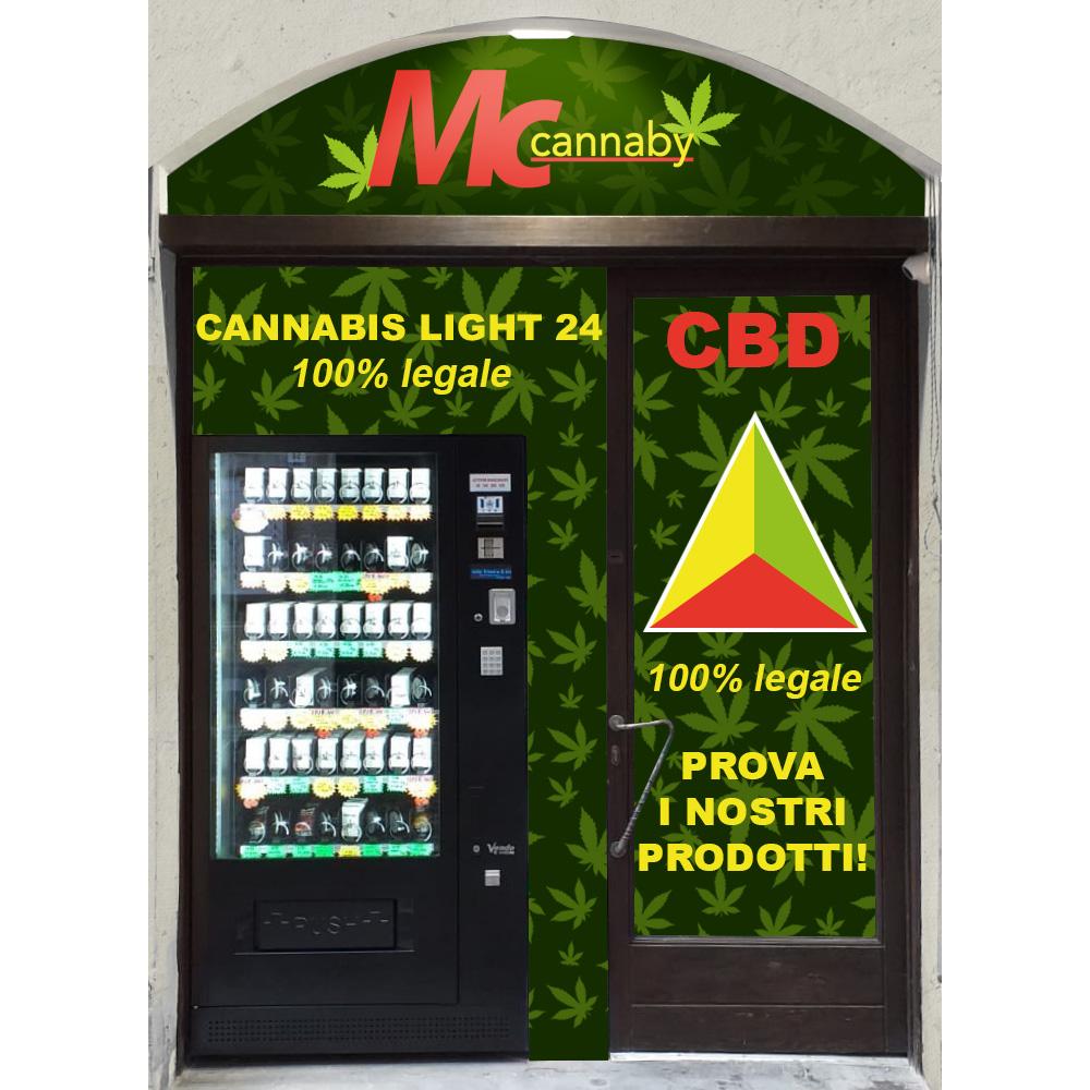 Mcmarket24: Distributore automatico di Cannabis Light. 100% legale.